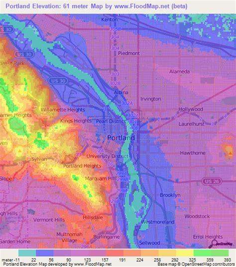 map of oregon elevation portland oregon elevation map images