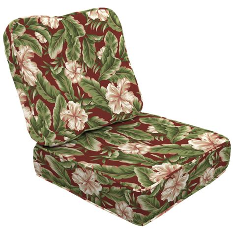 Patio Chair Cushions Floral Arden Companies 2 Seat Chair Cushion Set Palm
