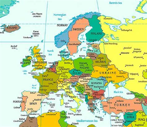 map of europe picture europe map hd with countries