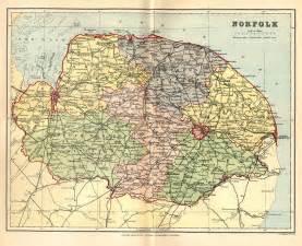 Norfolk England Map norfolk genealogy heraldry and family history