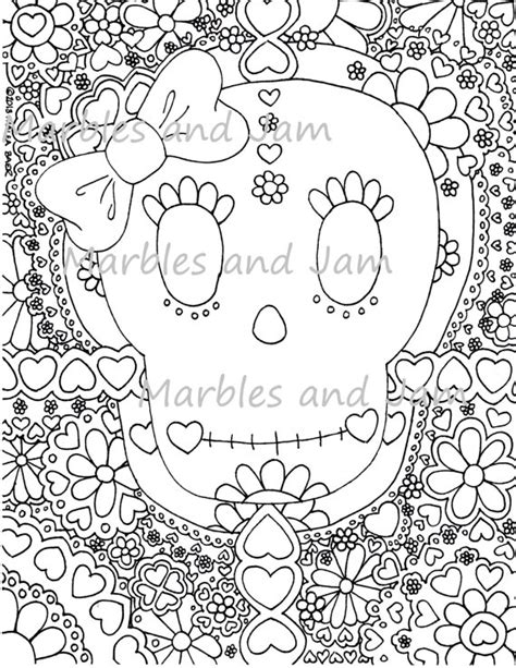 day of the dead catrina coloring pages day of the dead sugar skulls coloring page dia de los muertos