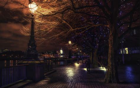 christmas wallpapers england landscape urban lantern london england river