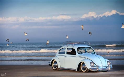 vw themes hd vw on the beach wallpapers volkswagen beetle wallpaper