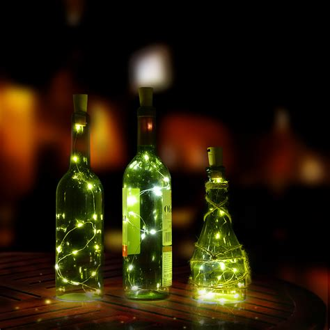 starry string lights lights on copper wire 30inch cork shape bottle mini string lights copper wire