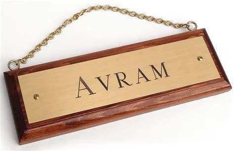 Custom Engraved custom engraved brass stall name plate