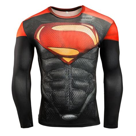 Superman Gold Longsleeve brand new 2016 s superman compression sleeve shirt hobbies discount