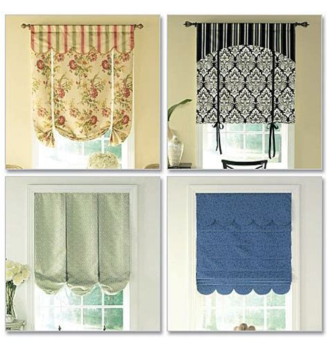 Kitchen Curtain Sewing Patterns Waverly Sewing Pattern B5159 Window Treatments Window Treatment Bay Window