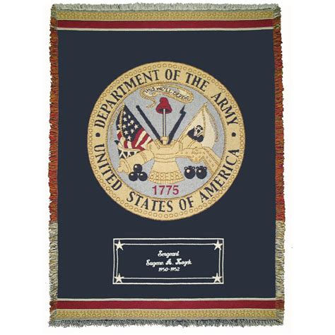 army gifts a plus 174 personalized collection throw 208675
