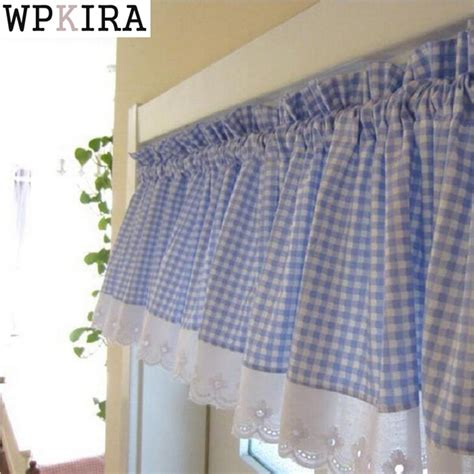 plaid cafe curtains blue small plaid curtains with lace cafe curtains kitchen