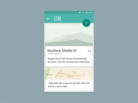 card layout android design lonr android material design for the lonely uplabs