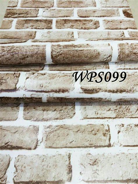 Wallsticker Roll Batu Bata Merah Pucat harga tidak ditemukan id priceaz