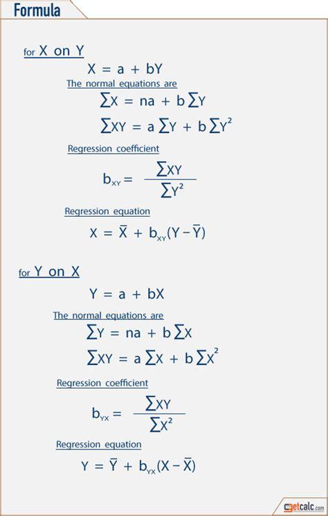 calculator regression online statistics linear regression calculator