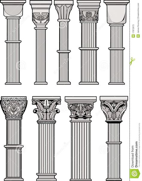 imagenes de columnas egipcias columnas romanas stock de ilustraci 243 n imagen de