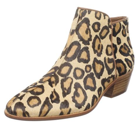 flat leopard print ankle boots for 2017 style
