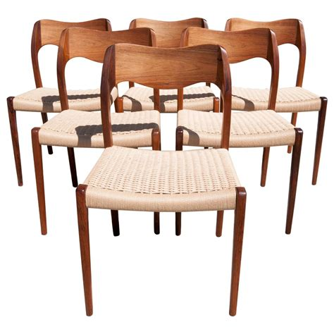 Rosewood Dining Chair Set Of Six N O M 248 Ller No 71 Rosewood Dining Chairs At 1stdibs