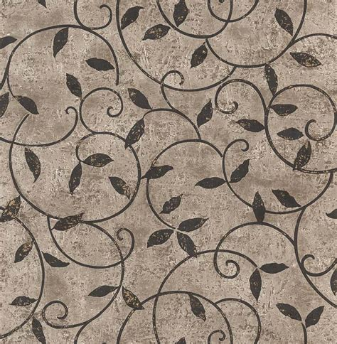 grey wallpaper with leaves norwall zen black scrolls leaves grey wallpaper zn28029 ebay