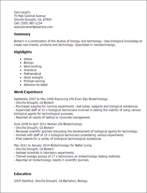 sle biology resume application letter sle for biology 28 images volunteer