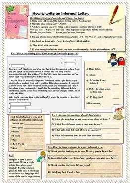 esl formal worksheets
