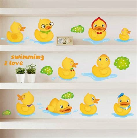 kids bathroom wall stickers yellow duck kids wall decals for bathroom wall stickers