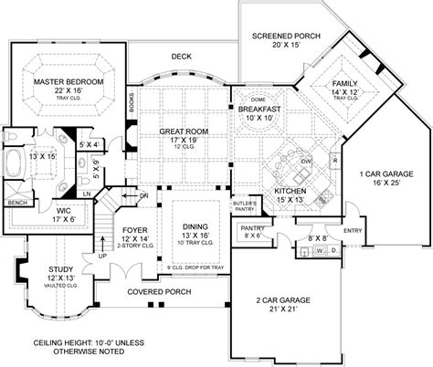 floor plans for homes with a view drewnoport 7395 4 bedrooms and 4 baths the house designers