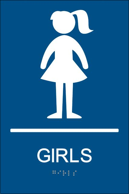 bathroom girl sign ada girls restroom signs with braille girls braille bathroom signs clipart best
