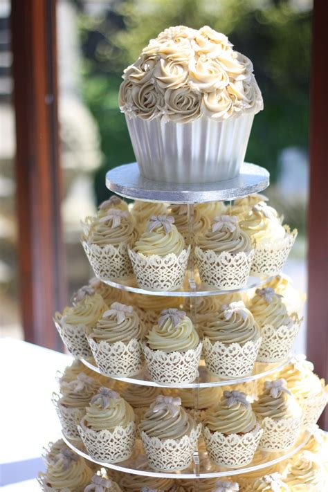Cup Cake Wedding Cake by A Collection Of Creative Cupcake Towers