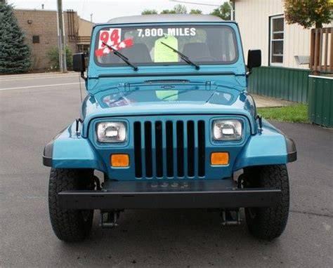 jeep wrangler turquoise for sale find used 1994 jeep wrangler se 4x4 showroom condition