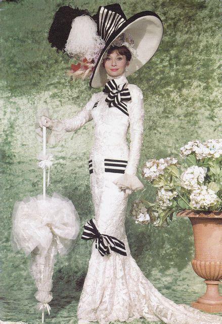 themes in my fair lady film audrey hepburn fashion on tumblr