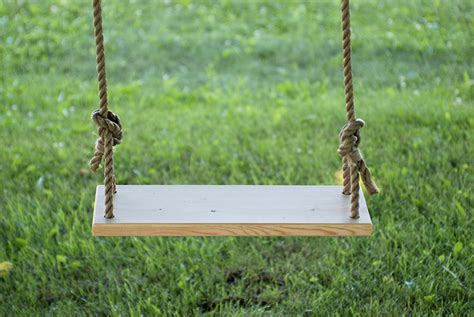 how to build a backyard swing diy tree swing 187 the merrythought