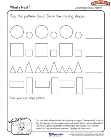shape pattern worksheets for 1st grade free worksheets 187 pattern worksheets shapes free math
