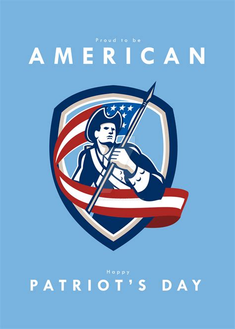 patriots day patriots day greeting card american patriot soldie by