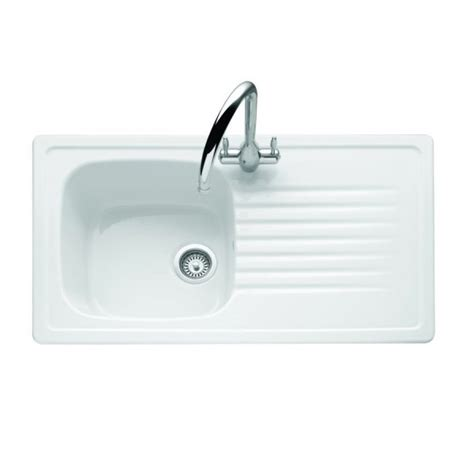 Ceramic Kitchen Sink With Drainer Targa Ceramic Single Bowl Drainer The Kitchen Sink