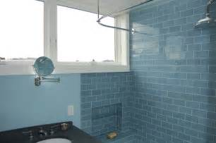 glass subway tile bathroom ideas modwalls lush 3 quot x 6 quot rain glass subway tile eclectic