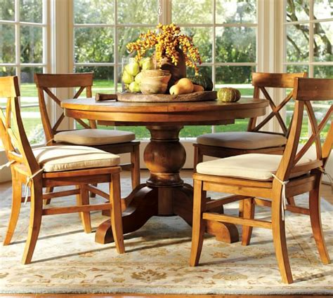 pottery barn dining tables sumner extending pedestal table aaron chair 5 dining set pottery barn