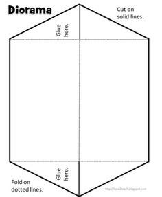 printable diorama instructions 1000 images about foldables on pinterest graphic