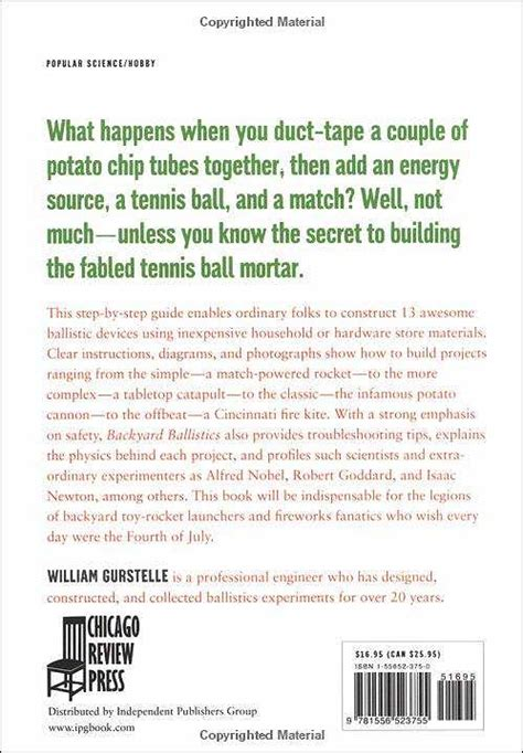 backyard ballistics book backyard ballistics back cover