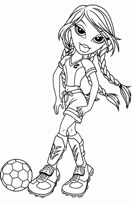 bratz coloring pages pdf bratz jade playing football coloring pages bratz cartoon