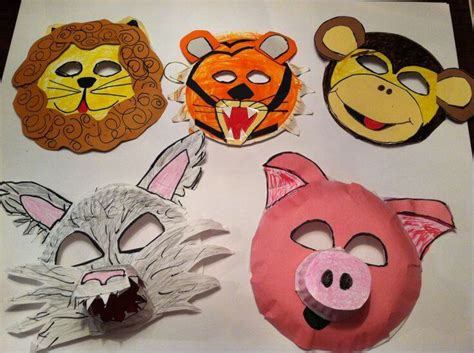 How To Make Paper Mask Step By Step - diy simple animal mask for tutorial k4 craft