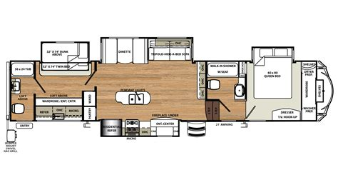 sandpiper rv floor plans 2018 forest river sandpiper 383rblok bunkhouse fifth wheel
