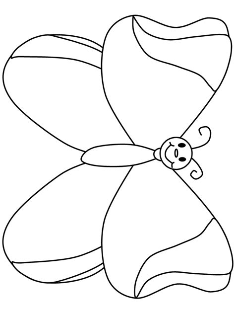 cartoon butterfly coloring page free printable coloring