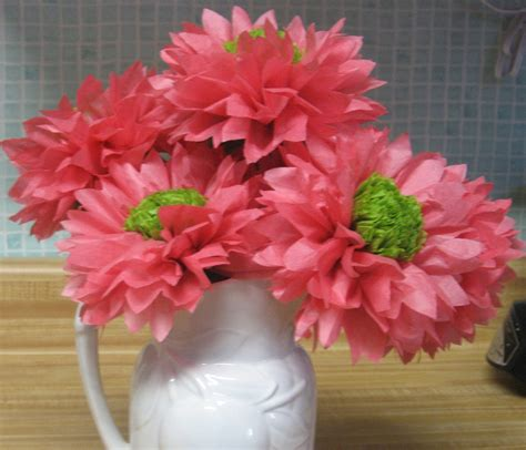 How To Make Tissue Paper Daisies - dozen open tissue paper gerber daisies your by