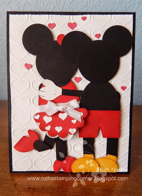 how to make wedding anniversary cards 2 ruth s sting corner mickey and minnie
