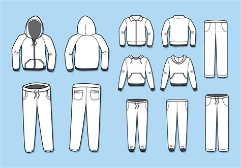 Free Blank Tracksuit Template Vector - Download Free ... Fashion Illustration Templates Men