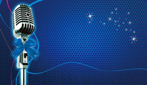 singing background singing contest poster background material microphone