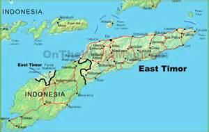 East Timor Location On World Map by East Timor Physical Map