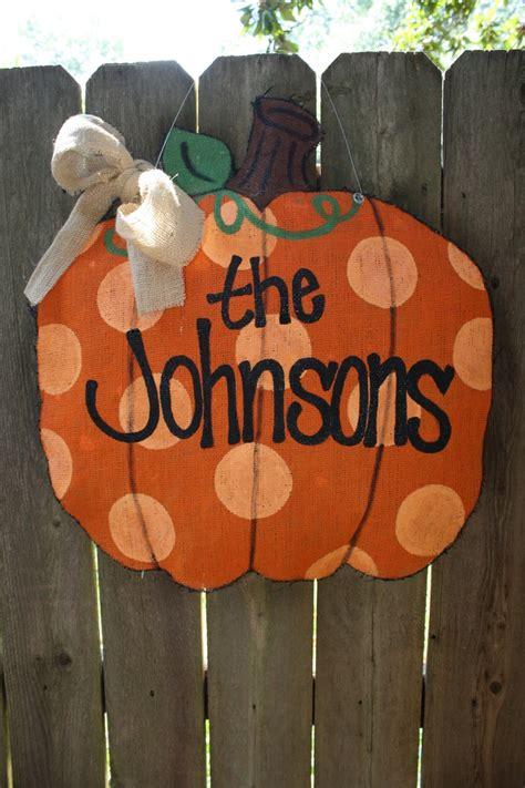 burlap door hanger pumpkin burlap door hanger fall o