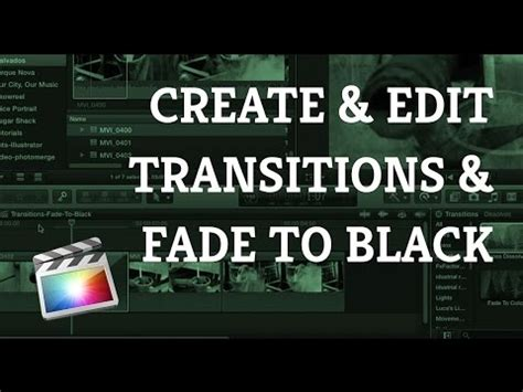 final cut pro tutorial beginner final cut pro x beginner tutorial creating transitions