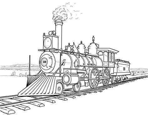 Locomotive Coloring Pages union pacific locomotive number 119 stuff coloring page