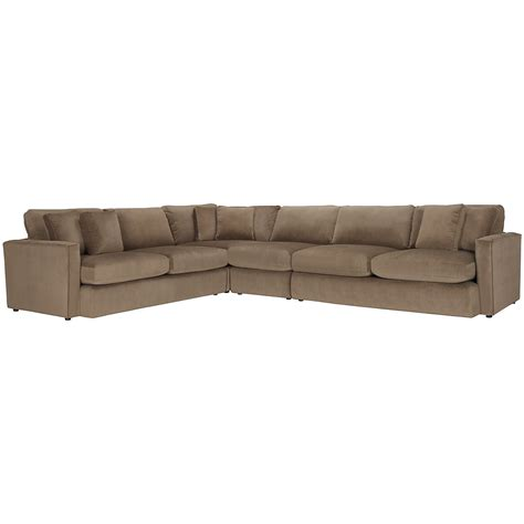 Large Microfiber Sectional Tara2 Md Brown Micro Lg 2arm Sectional