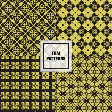 Thai Pattern Ai | thai patterns collection vector free download